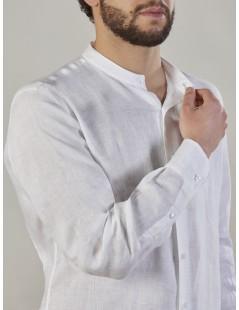 Camiceria Stefanelli - Man shirt 100% linen garment dyed -