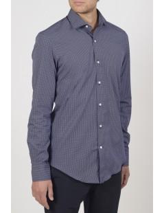Camicie da Uomo - Camicia uomo cotone 100%, popeline stampato: