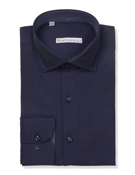 Camicie da Uomo - Camicia uomo cotone 100%, oxford blu navy: