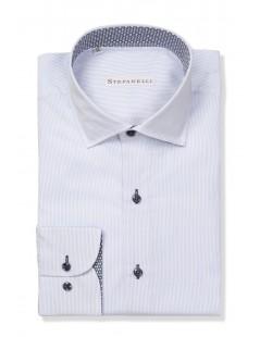 Camicie da Uomo - Camicia uomo cotone 100%, Riga fine: Camicia