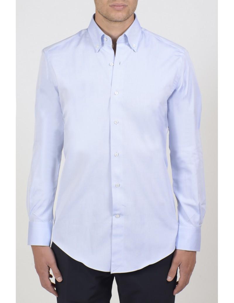Camicie da Uomo - Camicia uomo cotone 100%, oxford celeste