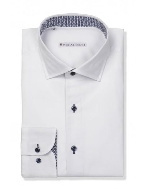 Camicie da Uomo - Camicia uomo cotone 100%, oxford bianco: